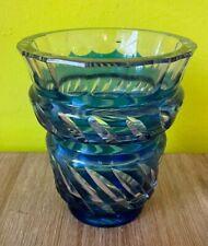 Charmant vase en cristal taillé en Val-Saint -Lambert 15,5cm de hauteur top déco