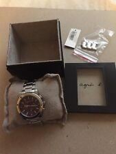 Agnes B Chronograph Watch Purple Timepiece Wristwatch  Limited