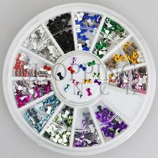 Nail Rhinestones Gems Art Diamante Fashion Glitter Jewels Multi Colour Bow Ties