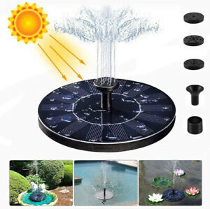 Solar Fountain Bird Bath Powered Water Pump Floating Outdoor Pond Garden Pool