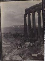 Baalbek Libano Viaggio IN Oriente 1909 Vintage Argento 6x9cm