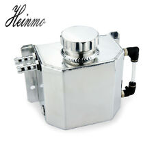 Universal 1L Aluminium Alloy Engine Oil Catch Can Breather Tank Bottle Polished