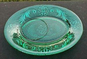"Tiara Indiana Sandwich Spruce Green 8¼"" Snack Plate"