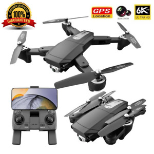 Quad air Drone S604 PRO Drone GPS 5G WIFI FPV 6K HD Dual Camera RC Quadcopter+2B