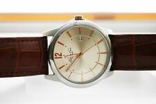 Mens WATCH Kenneth Cole Champagne Dial KC3960 CROCO Emboss Leather Strap $115
