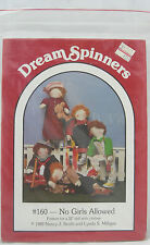 """Dream Spinners Pattern~#160 No Girls Allowed~For 32""""Doll-Different Outfits-Uncut"""