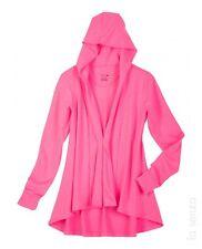 La Senza Mini French Terry Hoodie Robe Pink Ladies Size Small-Medium Box1027 a