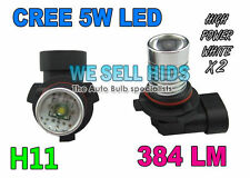 FOG LIGHT BULBS h11 BIANCO CREE LED Partita Xenon HID Audi a3 a4 a6 s3 VW Golf mk5