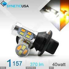 1157/2397 Switchback Error-Free White/Amber 20-LED DRL/Turn Signal Light Bulbs