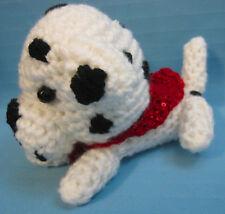 Amigurumi Dalmatian Dalmation Puppy Dog Crochet Handmade Figurines Gifts by Bren