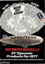 1977 ADVERT 12 PG Revell Goodyear Blimp Gullwing Mercedes Benz 300SL German Tank
