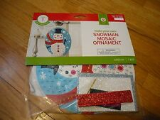 New ! Make - you - own Snowman Mosaic Ornament Kids' Activities Holiday Time