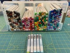 Copic Sketch and Ciao Markers Lot 227, 2 blenders, 5 refills