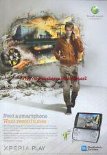 "Xperia Play ""Sony Ericsson"" 2011 Magazine Advert #4412"