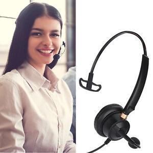 3.5mm Telephone Headset Monaural Headphones Microphone Mic For PC Tablet Phone