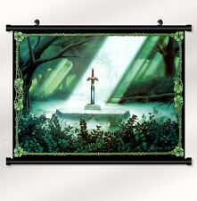 """the legend of zelda 25th Fabric poster with wall scroll 22"""" x  16"""" Decor 46"""