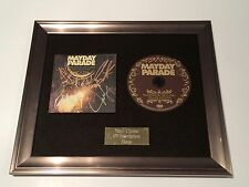SIGNED/AUTOGRAPHED MAYDAY PARADE -MONSTERS IN THE CLOSETFRAMED CD PRESENTATION.