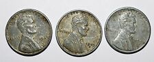 """1943 P,D,S -Steel Pennies- Mint Error-Light or Missing """"4"""" on the """"S""""  Mint Mark"""
