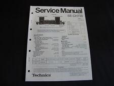 Original Service Manual Technics SE-CH730