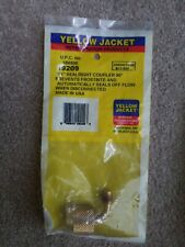 """Yellow Jacket 19209 Seal Right Quick Coupler - 90° x1/4"""" no loss fitting nr new"""
