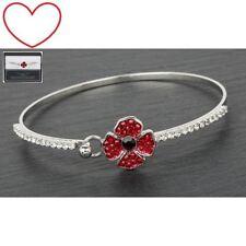 Poppy remembrance bracelet bangle jewellery gift