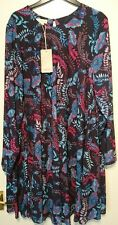 Monsoon Gilly Navy Tunic Floral Lined Dress Size UK 14 BNWT Multi Coloured