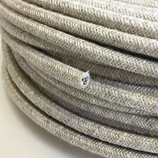 Textilkabel, Leitung Textilfaser umflochten, rund, Leinen, 3x0,75 H03VV