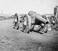 Captured Confederate siege gun Rocketts Landing 1865 New 8x10 US Civil War Photo