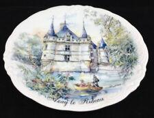 Plate Nem Decor France Chateau Azay Le Rideau Porcelain Decorative Castle Boat
