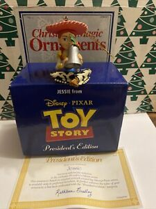 Jessie From Toy Story Disney Grolier Christmas Pres EDT Ornament New In Box COA