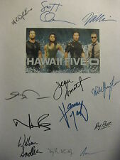Hawaii Five-0 5 Signed Script X12 Alex O'Loughlin Scott Caan Daniel Dae Kim rpnt
