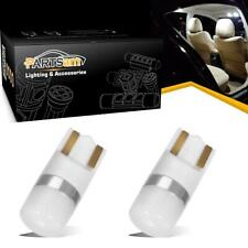 2pcs White Upgraded T10 194 168 LED Dome Map Door License Interior Light Bulb