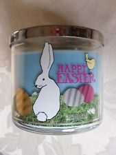"""BATH & BODY WORKS 14.5oz 3 WICK CANDLE """"SUGARED CANDY BUNNY"""" GLITTER LID EASTER"""