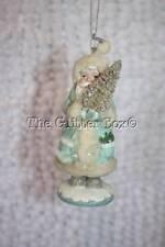 Christmas Ornament Kurt Adler Winter Whispers Santa Holding Bottle Brush Tree