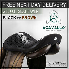 Acavallo GEL OUT Seat Saver Saddle Security Reduce Concussion Black/Brown S/M/L