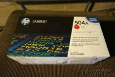 New Sealed Genuine OEM HP LaserJet 504A Magenta Toner CE253A LJ CP3525 3D23Z4a