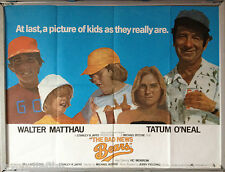 Cinema Poster: BAD NEWS BEARS, THE 1976 (Quad) Walter Matthau Tatum O'Neal