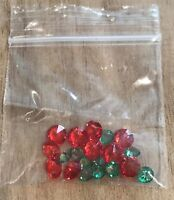 Acrylic Crystal for Origami Owl Floating Charms Living Locket Green & Red 20 PCS