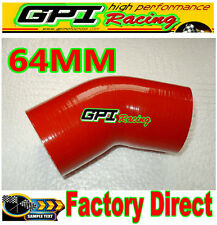 """GPI Silicone 45 Degree Bend 2.5"""" 64mm Joiner Elbow Radiator Hose Silicon Pipe re"""
