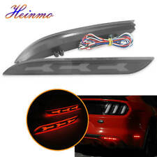 Smoked Lens Rear Bumper Side Marker Red LED Lights For Ford Mustang 2015-2017