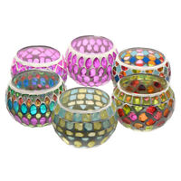 Mosaic Glass Candle Holder Tealight Votive Table Home Room Wedding Decor Gift !