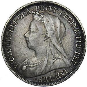 1897 SHILLING - VICTORIA BRITISH SILVER COIN - NICE