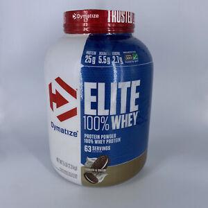 Dymatize Nutrition Elite 100% Whey Protein Powder Cookies & Cream 5 lb Exp 6/23