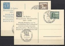 1044)) 2 Ausstellungskarten 75 Jahre Bergedorfer Briefmarkenausst. 25.-27.9.1936