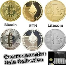 Choose Bitcoin , Litecoin , Ethereum Coins Collectible Commemorative Coins