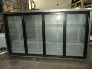 Used Custom 4 Glass Door Reach-In Floral Cooler w/ Brand New Compressor
