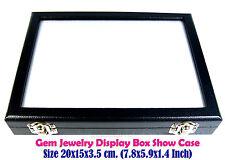 TOP GLASS DISPLAY BOX SHOW CASE JEWELRY ORGANIZER GEM DIAMOND COIN 15x20cm No#27