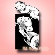 Vintage Baby Doll in Diaper Pattern