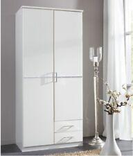 Double Wardrobe Solid Wood 2Door 2Drawer Diamante Modern Bedroom Furniture chest