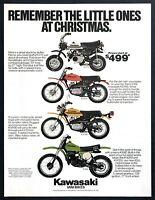 1979 Kawasaki KV75 KD100 KM100 KX80 Mini Bikes photo Christmas vintage print ad